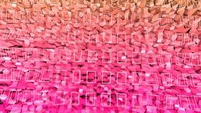 3d framför av abstrakt geometrisk bakgrund med moderna lutningfärger i låg poly stil yttersida 3d med den trevliga apelsinen stock illustrationer