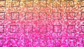 3d framför av abstrakt geometrisk bakgrund med moderna lutningfärger i låg poly stil yttersida 3d med den trevliga apelsinen vektor illustrationer
