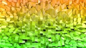 3d framför av abstrakt geometrisk bakgrund med moderna lutningfärger i låg poly stil yttersida 3d med den trevliga apelsinen royaltyfri illustrationer