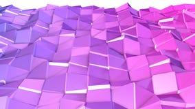 3d framför av abstrakt geometrisk bakgrund med moderna lutningfärger i låg poly stil yttersida 3d med den trevliga violeten vektor illustrationer
