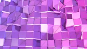 3d framför av abstrakt geometrisk bakgrund med moderna lutningfärger i låg poly stil yttersida 3d med den trevliga violeten royaltyfri illustrationer
