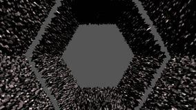 3d framför av abstrakt geometrisk bakgrund med moderna lutningfärger i låg poly stil yttersida 1 för svart 3d royaltyfri illustrationer