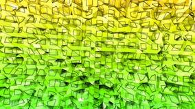 3d framför av abstrakt geometrisk bakgrund med moderna lutningfärger i låg poly stil yttersida 3d med trevlig guling royaltyfri illustrationer