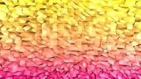 3d framför av abstrakt geometrisk bakgrund med moderna lutningfärger i låg poly stil yttersida 3d med trevlig guling stock illustrationer