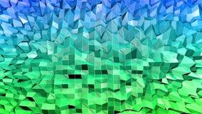3d framför av abstrakt geometrisk bakgrund med moderna lutningfärger i låg poly stil yttersida 3d med trevliga blått royaltyfri illustrationer