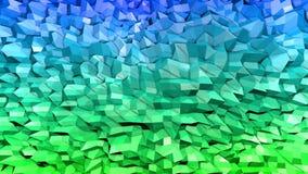 3d framför av abstrakt geometrisk bakgrund med moderna lutningfärger i låg poly stil yttersida 3d med trevliga blått vektor illustrationer