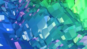 3d framför av abstrakt geometrisk bakgrund med moderna lutningfärger i låg poly stil yttersida 3d med trevliga blått stock illustrationer
