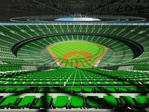 3D framför av baseballstadion med gröna platser och storgubbeaskar Royaltyfria Foton