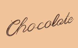 3d framför av chokladtext royaltyfri illustrationer