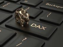 3d framför av datortangentbordet med DAX-indexknappen Royaltyfri Bild