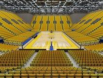 3D framför av den härliga sportarenan för basket Arkivfoto