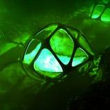 3D framför av den konstiga underjordiska reliken med vatten royaltyfri illustrationer