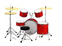 3d framför av drumset Royaltyfria Foton