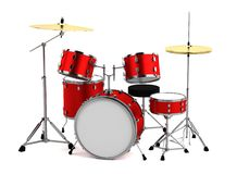 3d framför av drumset Royaltyfri Fotografi