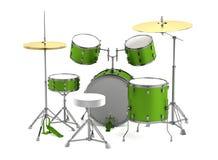 3d framför av drumset Arkivfoto