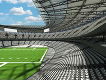 3D framför av en rund fotbollsarena med vita platser för hundratusen fans Royaltyfria Bilder