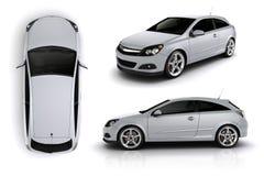 3d framför av en sportbil royaltyfri illustrationer