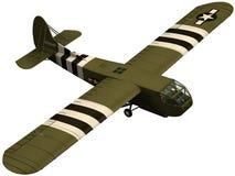 3d framför av en Waco CG-4 glidflygplan. Också bekant som en CG-4A eller en Hadrian vektor illustrationer