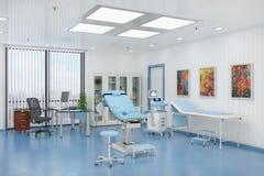 3d framför av ett behandlingrum av gynaecology stock illustrationer