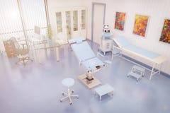 3d framför av ett behandlingrum av gynaecology royaltyfri illustrationer
