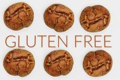 3D framför av fri mat för gluten arkivfoto