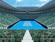 3D framför av härlig modern stadion för den storslagna slamen för tennis lookalike Fotografering för Bildbyråer