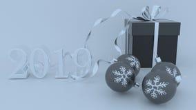 3D framför av jul och bakgrund för nytt år vektor illustrationer