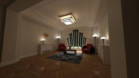 3D framför av klassiska Deco 0001 Royaltyfri Fotografi