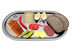 3d framför av mat Arkivbilder