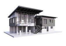 3d framför av modernt hus isolerat vektor illustrationer