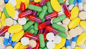 3D framför av preventivpillermedicin royaltyfri illustrationer