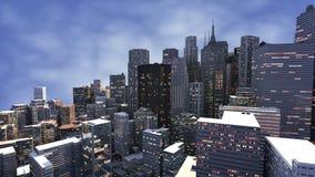 3D framför av stad vektor illustrationer