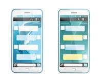 3D framför av textmeddelande på telefonen Royaltyfria Bilder