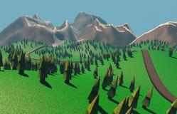 3d framför bilden av berget Illustration av naturberg Vektor Illustrationer