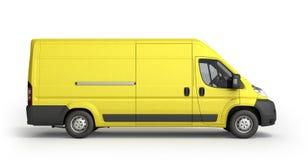 3d framför den gula leveransen Van Icon Royaltyfri Bild