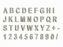 3D framför det Chrome text och numret Arkivfoto