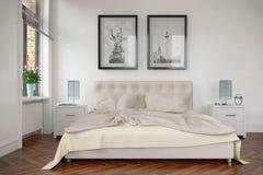 3d framför - det moderna sovrummet vektor illustrationer