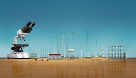 3D framför, illustrationen Vetenskapsbegrepp, stock illustrationer