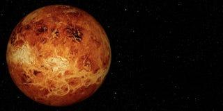 3D framför planeten Venus royaltyfri illustrationer
