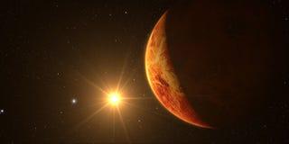 3D framför planeten Venus Royaltyfri Bild