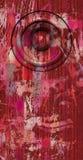 3d framför systemet för den rosa röda gamla högtalaren för grunge det solida Fotografering för Bildbyråer