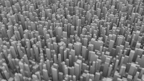 3D framförde animering av kuber som dyker upp från jordningen arkivfilmer