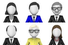 3d framförde avatarsymboler för rengöringsduk Royaltyfri Fotografi