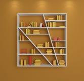 3d framförde bokhyllor Royaltyfri Bild