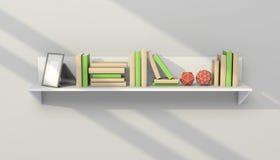 3d framförde den moderna bokhyllan Arkivbild