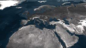 3d framförde Europa den geografiska översikten Arkivbild