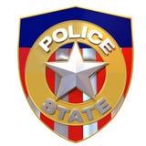 3d framfört polisstatemblem Royaltyfri Illustrationer