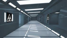 3d framför Futuristisk rymdskeppinre Royaltyfri Foto
