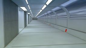 3d framför Futuristisk rymdskeppinre Fotografering för Bildbyråer