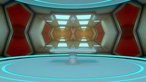 3d framför Futuristisk rymdskeppinre Arkivbild
